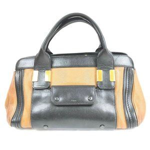Auth Chloe Alice Hand Bag Leather Black #N79951H03